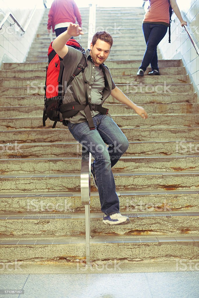 Active Young Backpacker royalty-free stock photo