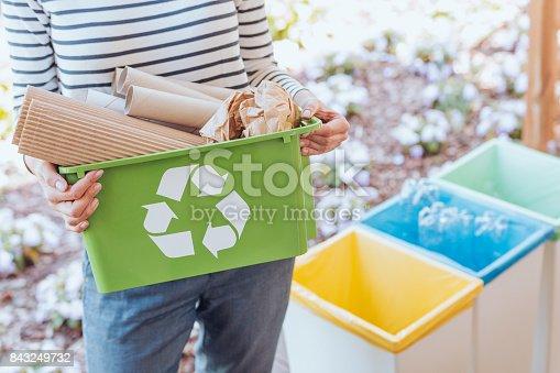 istock Activist sorting paper waste 843249732