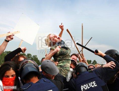 Activists fighting authority