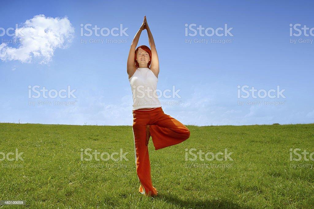 Activities: Yoga 1 royalty-free stock photo