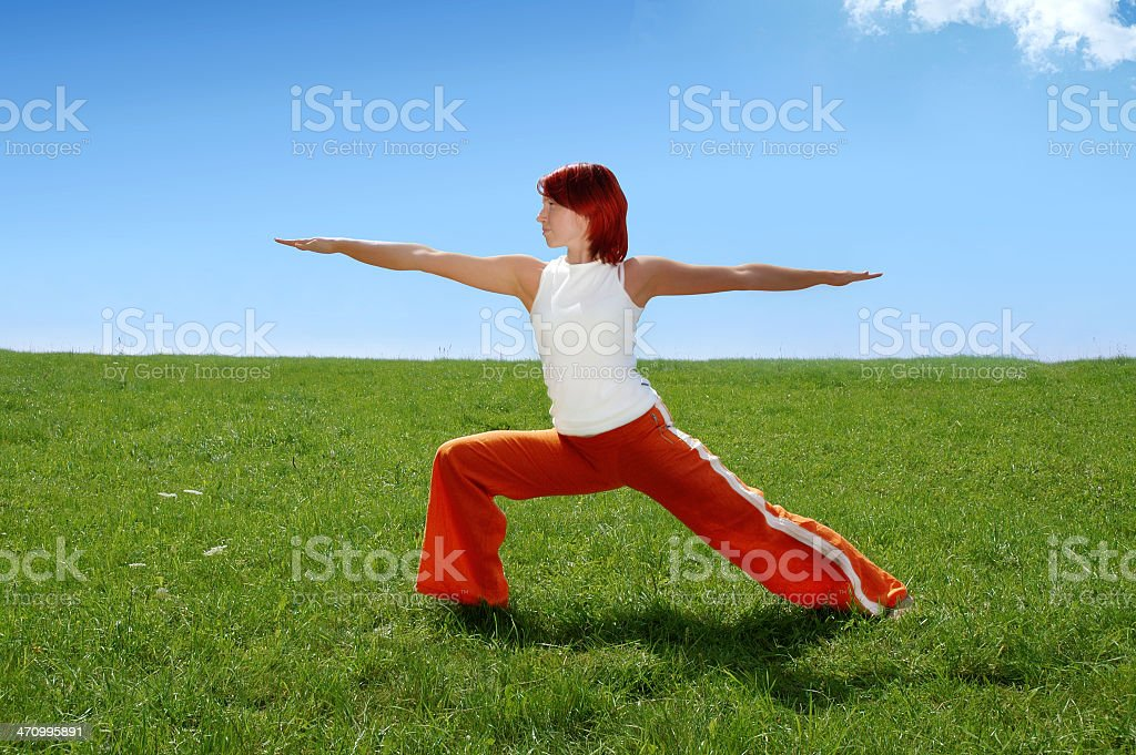 Activities: Yoga 2 royalty-free stock photo
