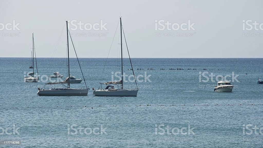 Activity in the sea royalty-free stock photo
