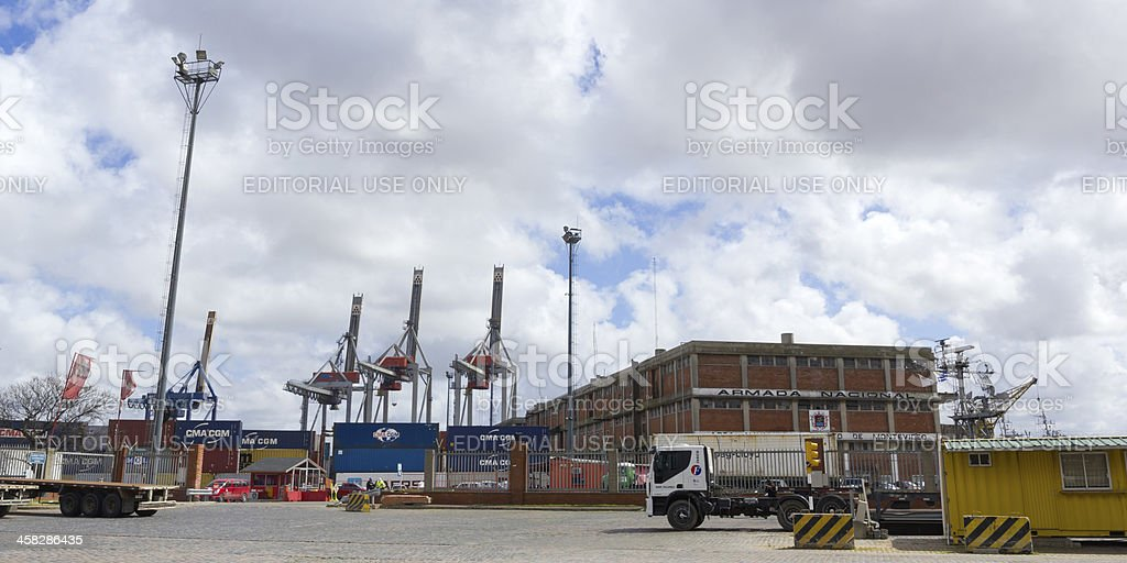 Activity in the seaport of Montevideo, Uruguay. royalty-free stock photo