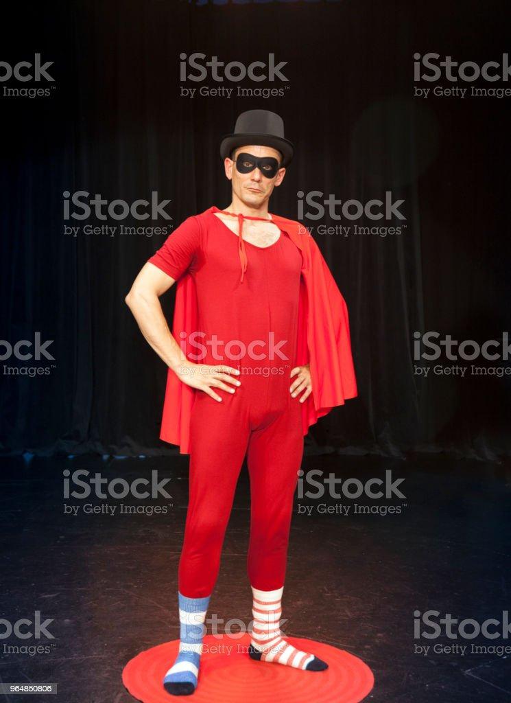 Actor comedian superhero royalty-free stock photo