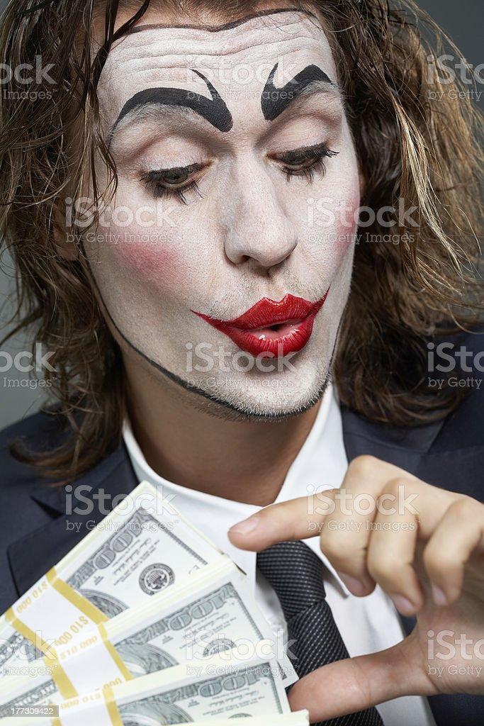 Actor of businessman stock photo