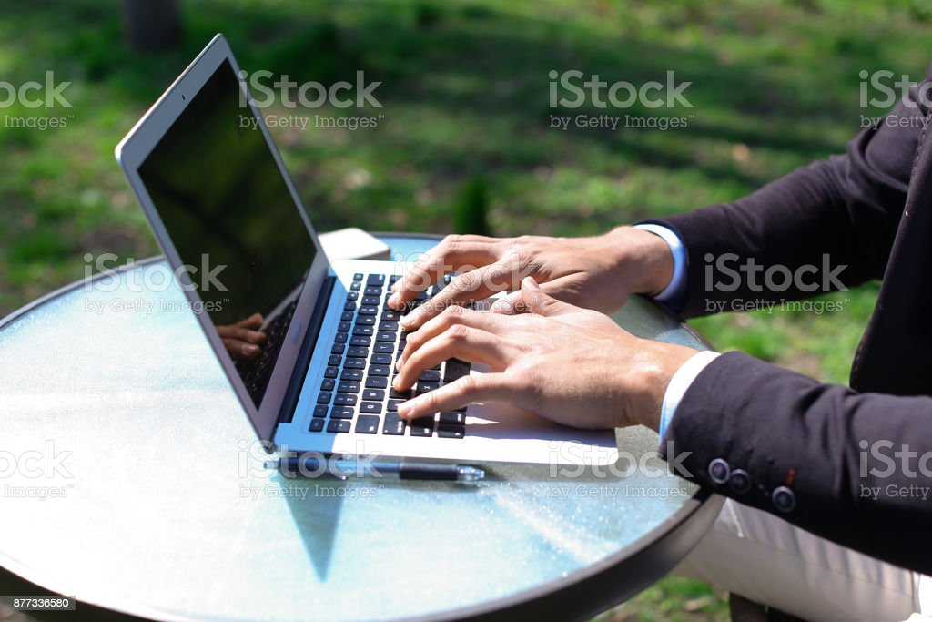 Actor on set of talk show and wave hands to viewers stock photo
