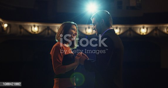 istock Actors performing a scene in a theater 1088421882