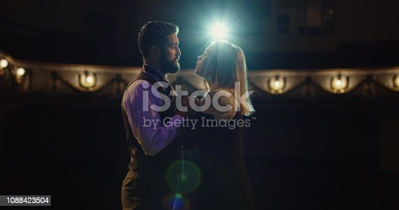 istock Actors performing a scene in a theater 1088423504