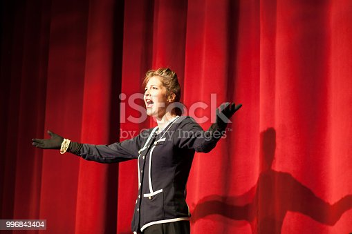 istock actress acting on stage 996843404