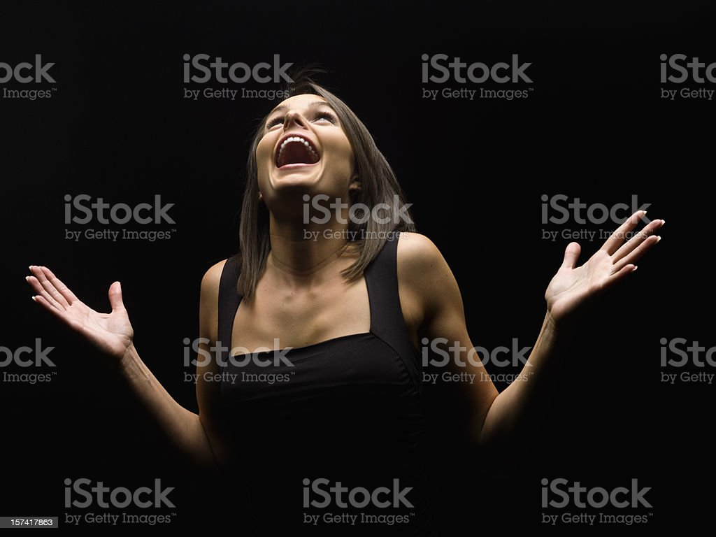 Actress performing stock photo