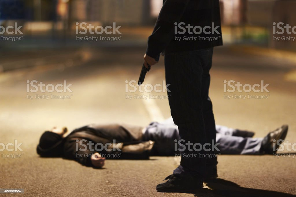 Acts of violence stock photo