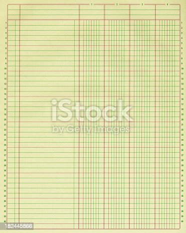 High resolution color image of a blank standard accounting ledger page