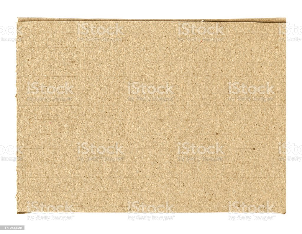 actual cut cardboard royalty-free stock photo