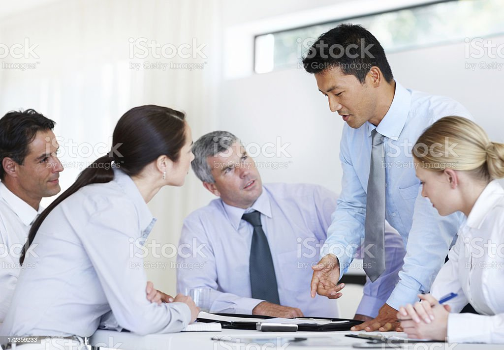 Actualising a business idea together royalty-free stock photo