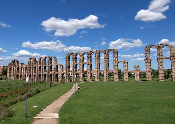 Acueducto De Los Milagros, Merida, Spain stock photo