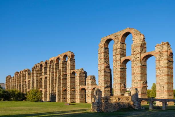 Acueducto Acueducto Los Milagros Merida Badajoz - foto de stock