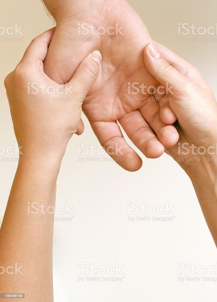 Acupressure - Hand royalty-free stock photo