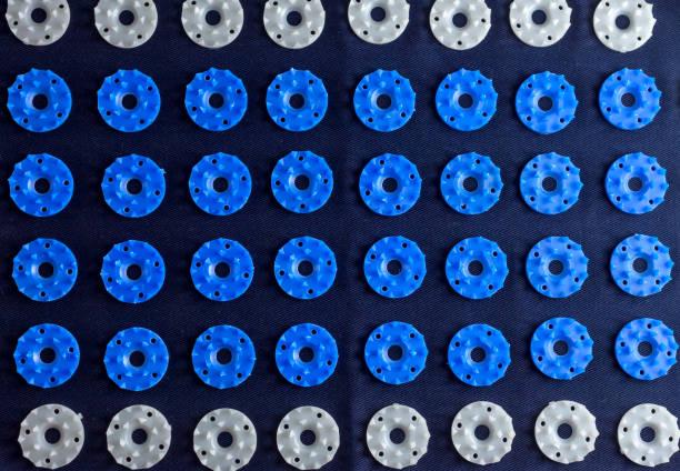 acupressure mat closeup stock photo