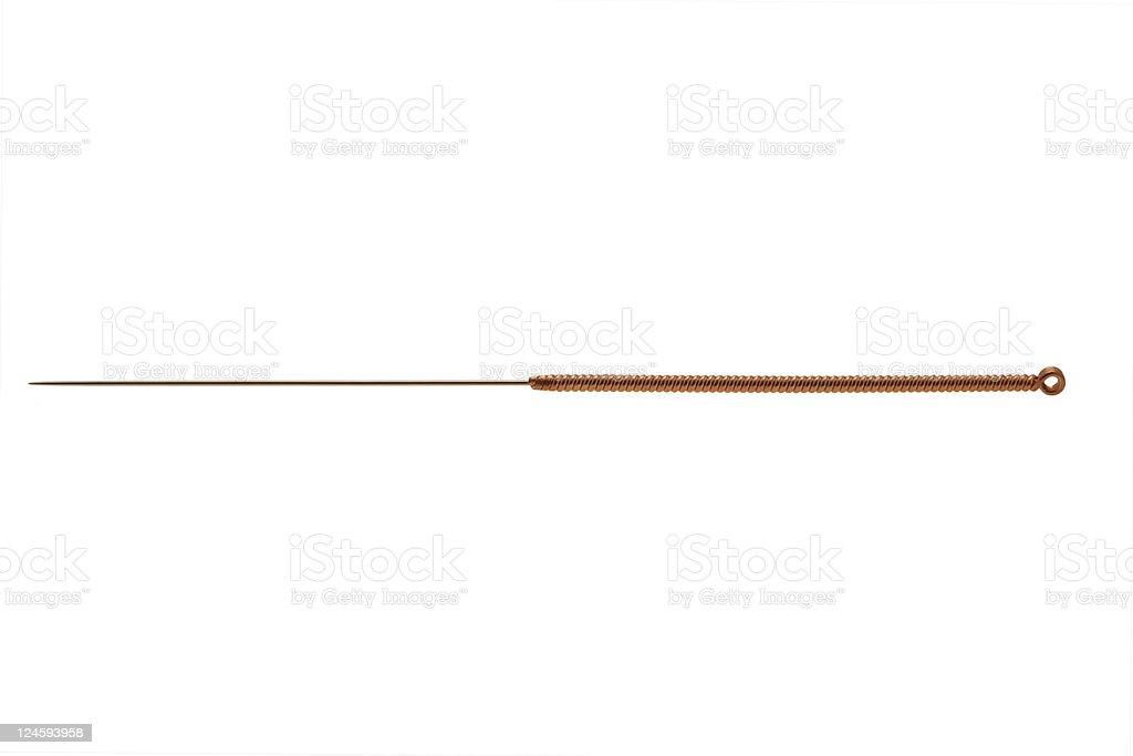Aguja de acupuntura - foto de stock
