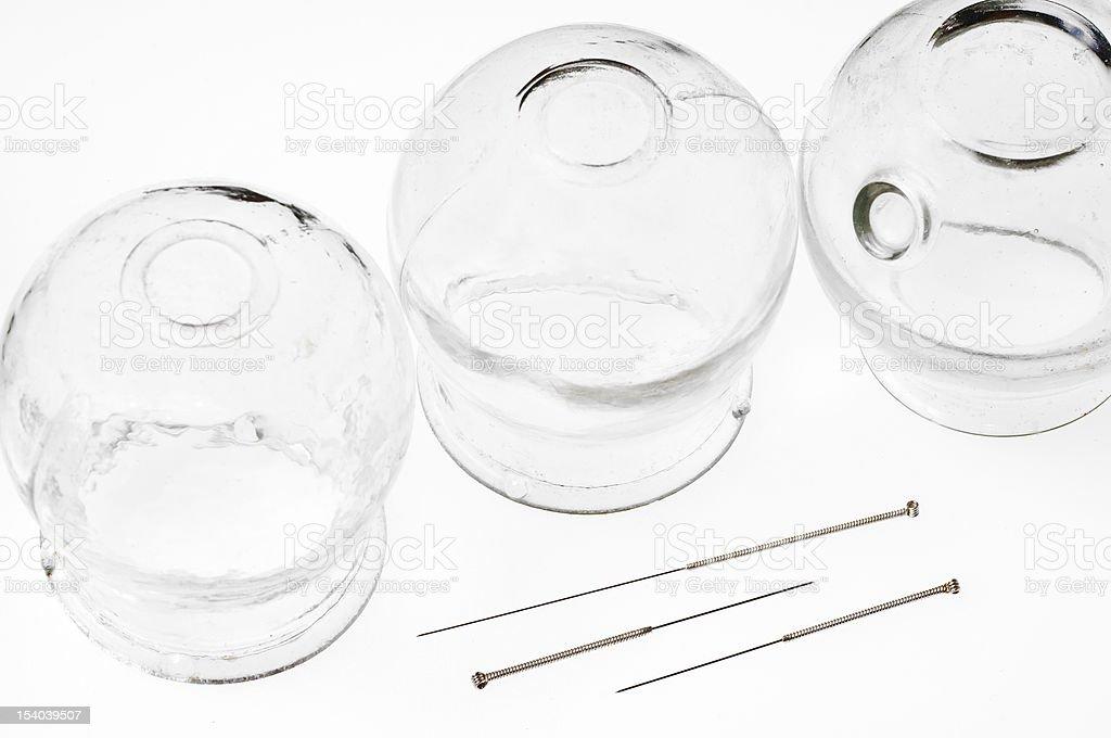 Acupuntura agujas y terapia de gafas - foto de stock