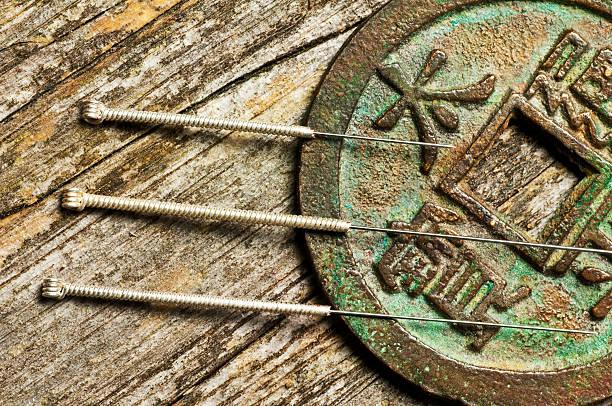 acupuncture needles foto