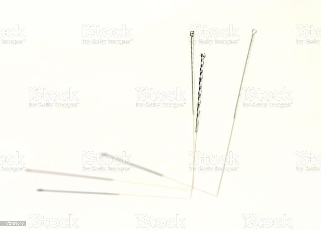 Agujas de acupuntura - foto de stock