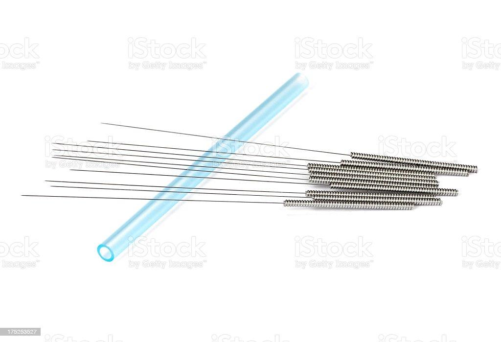 Acupunture Needles royalty-free stock photo