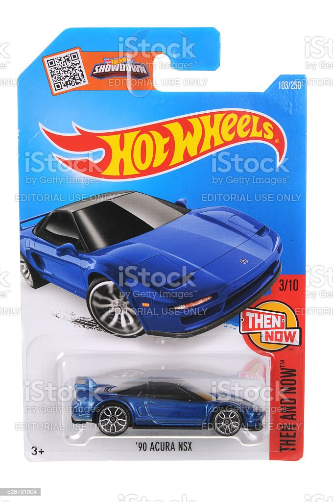 1990 Acura NSX Hot Wheels Diecast Toy Car stock photo
