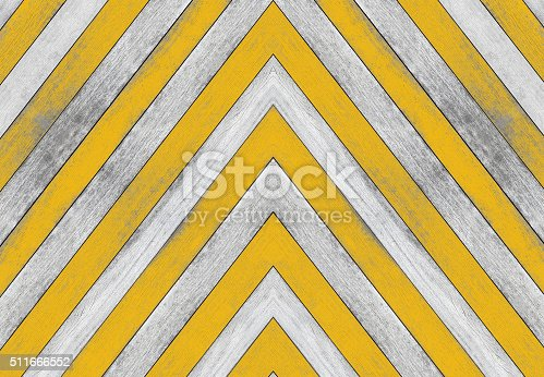 istock Acute angle, old white and yellow wood texture 511666552