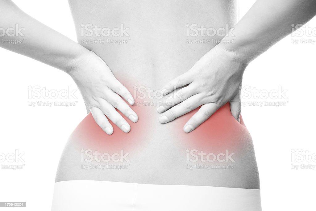 Acute back pain royalty-free stock photo