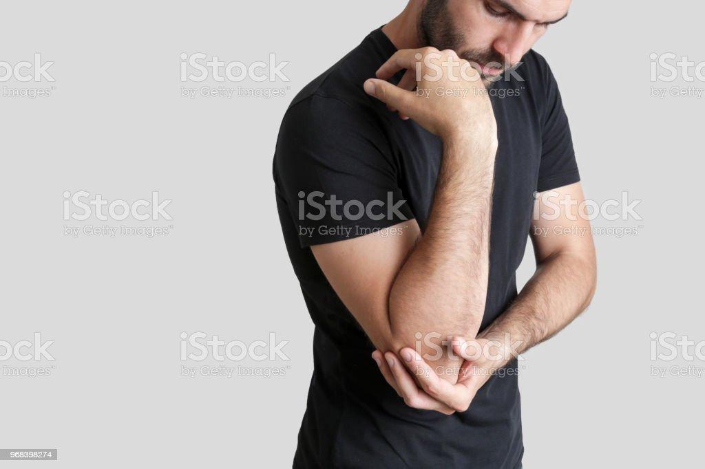 Agudo el codo en dolor