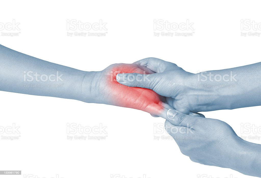 Acute pain in a woman Pain. royalty-free stock photo