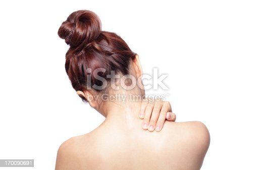 istock Acute pain in a woman shoulder 170090691