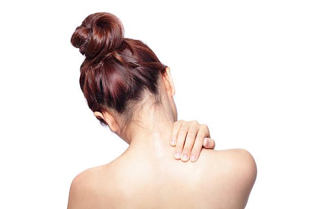 急性痛の女性の肩 - 肩 ストックフォトと画像