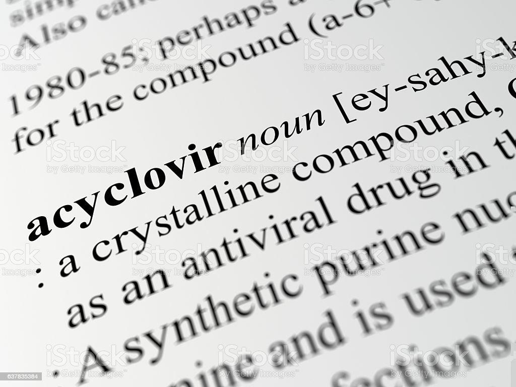 acyclovir stock photo