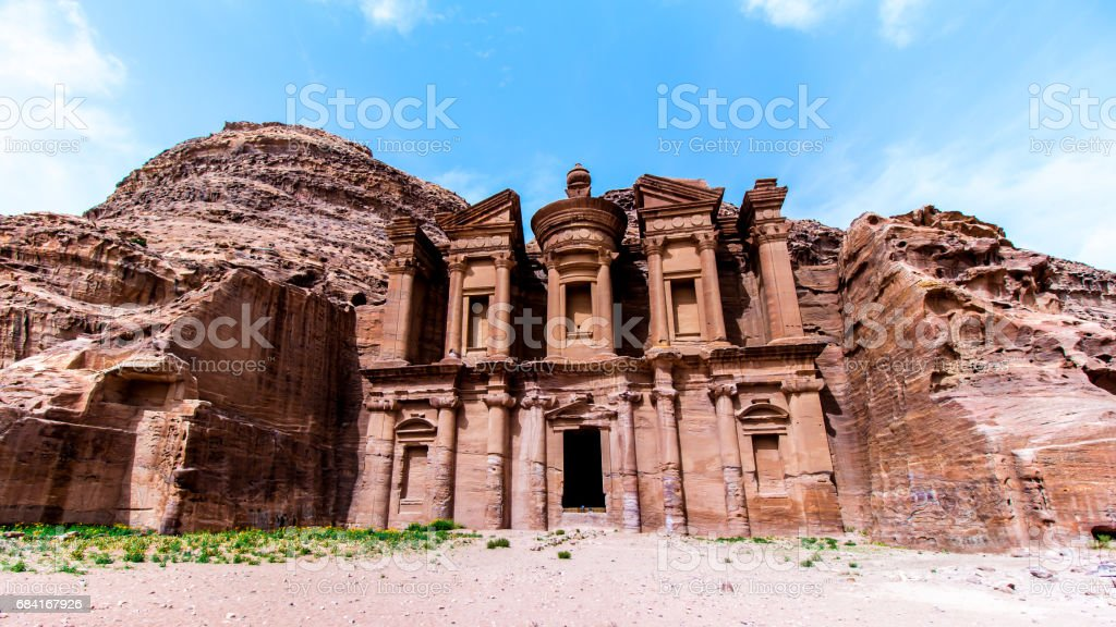 'Ad Deir' The Monastery, in the ancient Jordanian city of Petra royalty-free stock photo