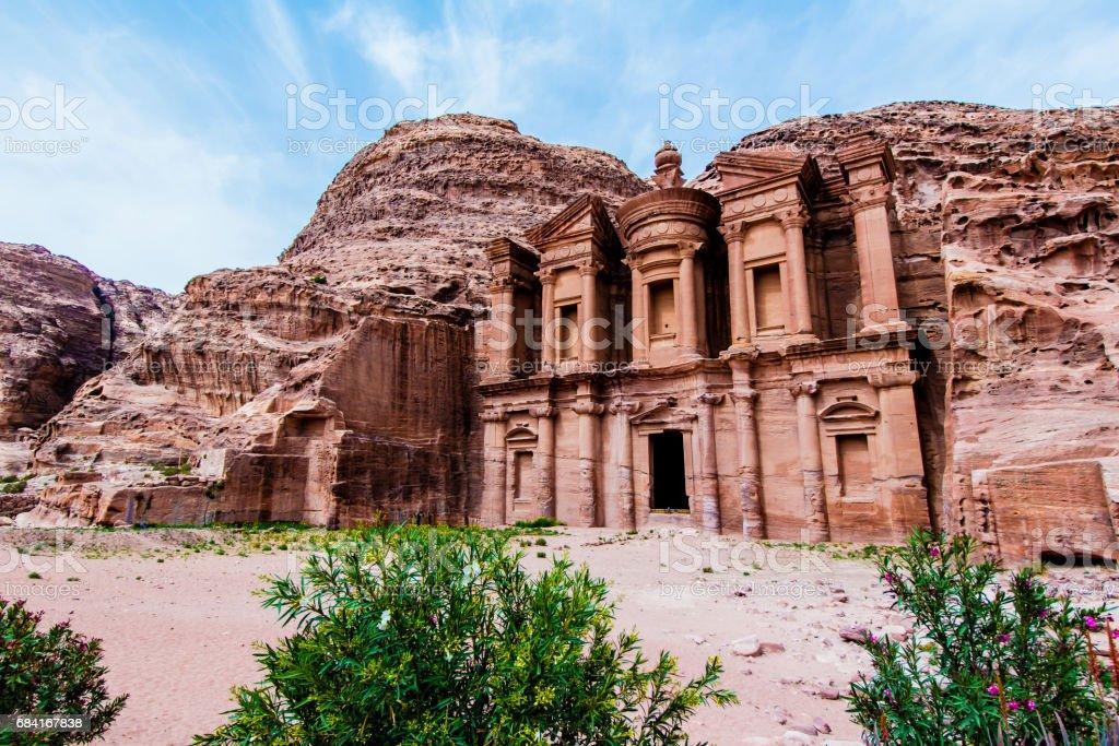 'Ad Deir' The Monastery, Petra foto stock royalty-free