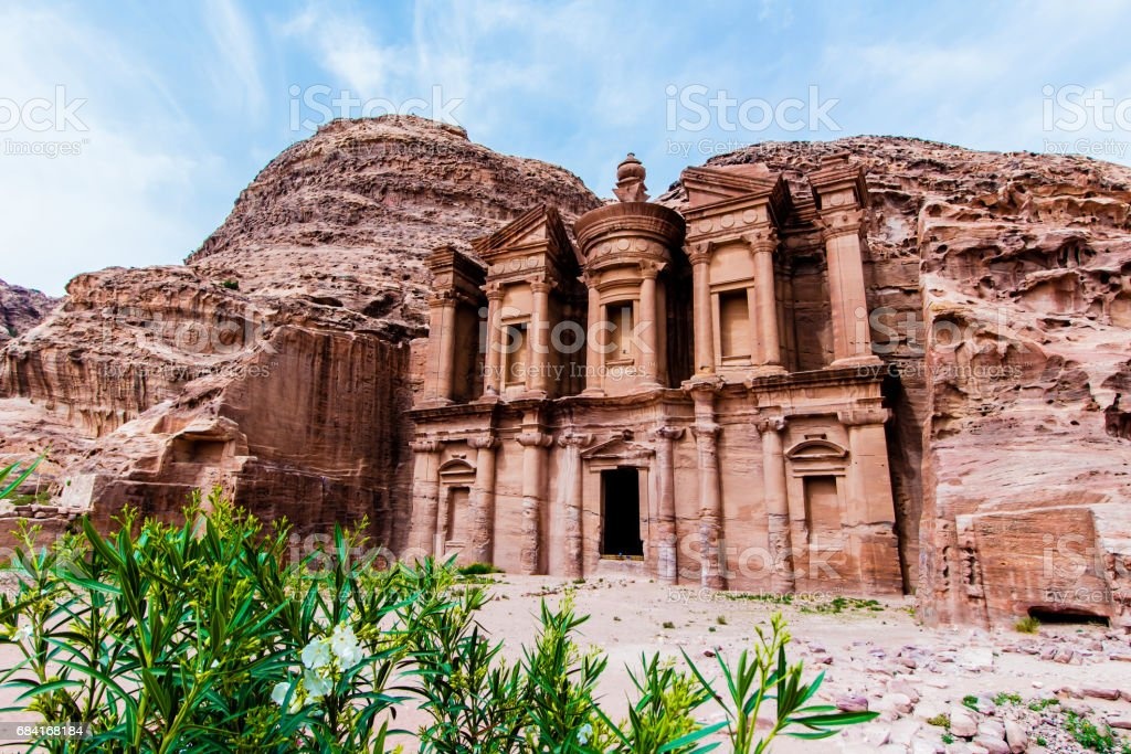 'Ad Deir' The Monastery, Petra photo libre de droits