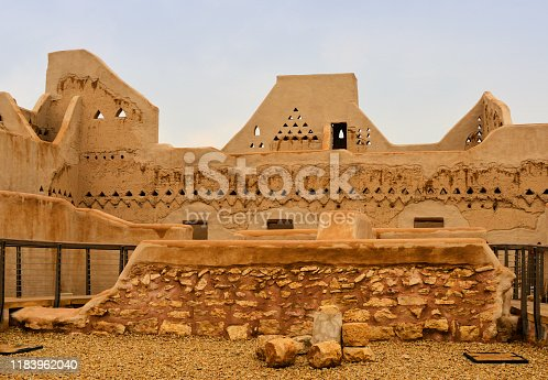 Riyadh, Saudi Arabia: mud brick city walls of Ad Dir'iyah, At-Turaif District -  UNESCO World Heritage Site - the country's first capital, from 1744 to 1818 - the Wahabi state was destroyed by invading Ottoman forces led by Ibrahim Pasha in 1818 - Najdi architecture