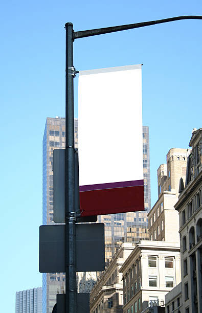 Ad sign (blank) in NYC