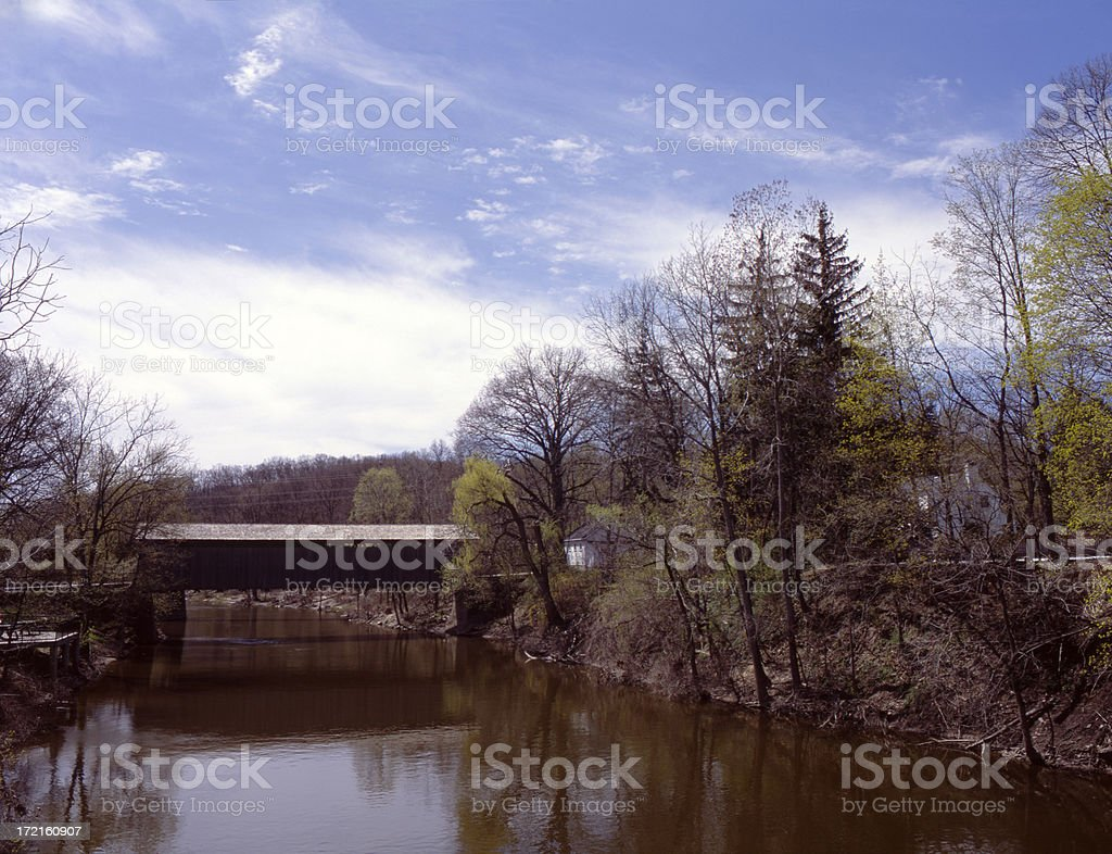 Ada Covered Bridge IV stock photo