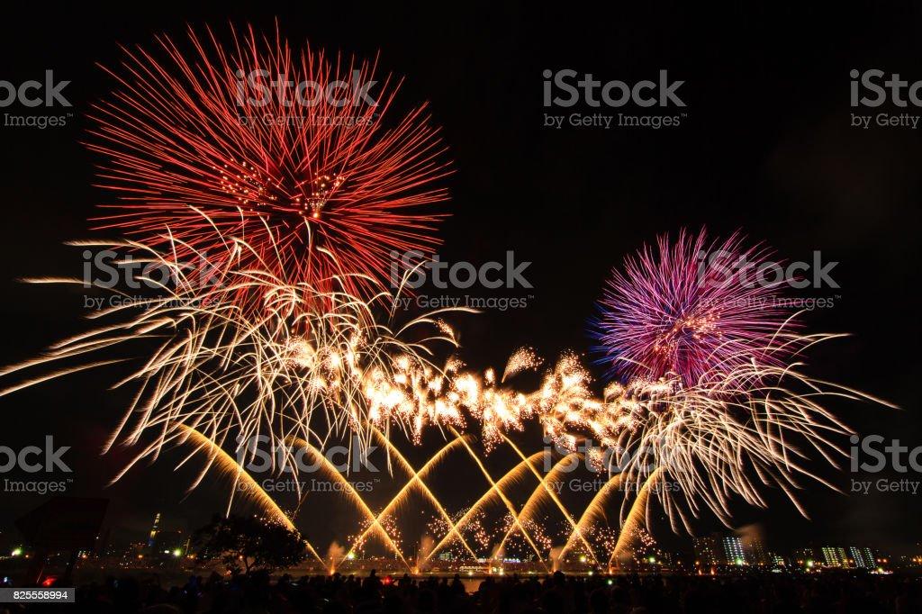 Adachi Fireworks 2017 stock photo
