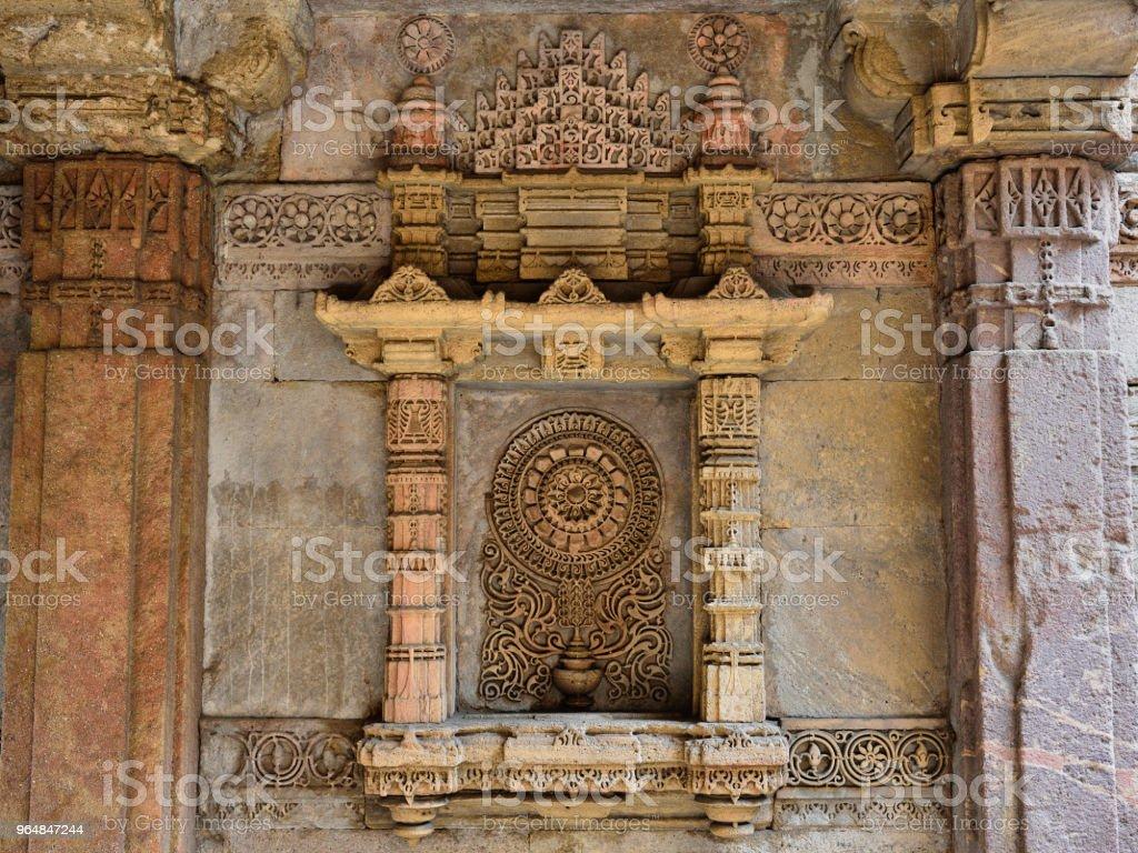 Adalaj Stepwell em Ahmedabad, na Índia - Foto de stock de Ahmadabad royalty-free