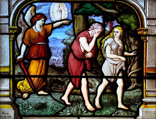 Adam and Eve verschwinden aus dem Garten Eden – Foto