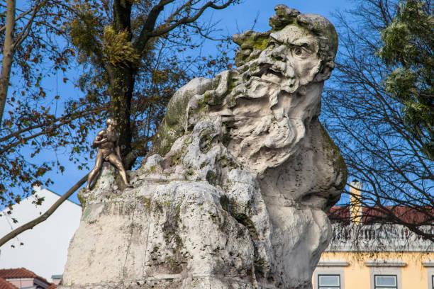 Adamastor Statue in Lisbon stock photo