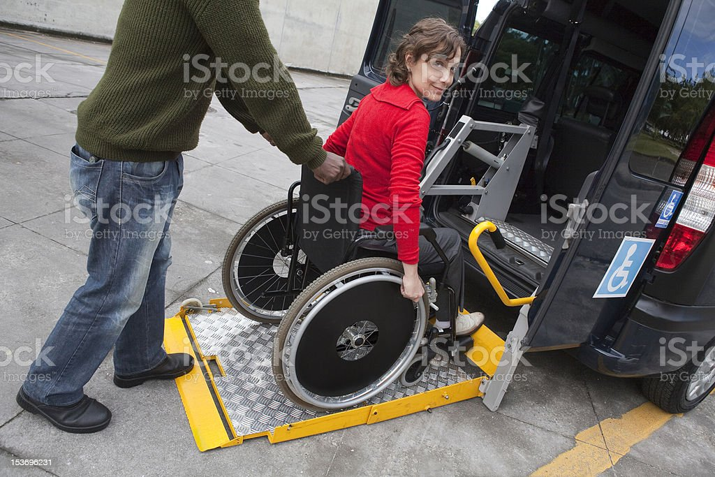 Adapted Taxi stock photo