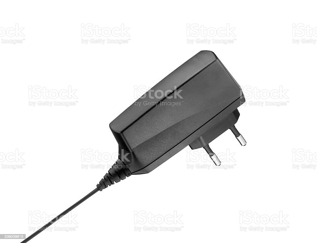AC/DC adapter isolated stock photo