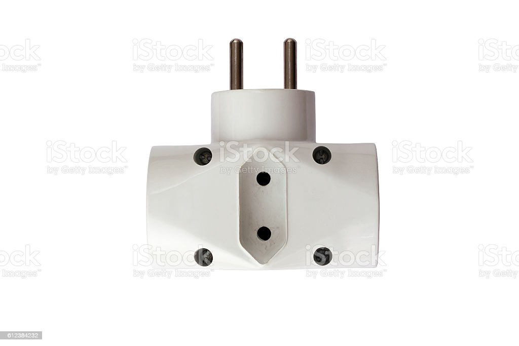 Adapter plug stock photo