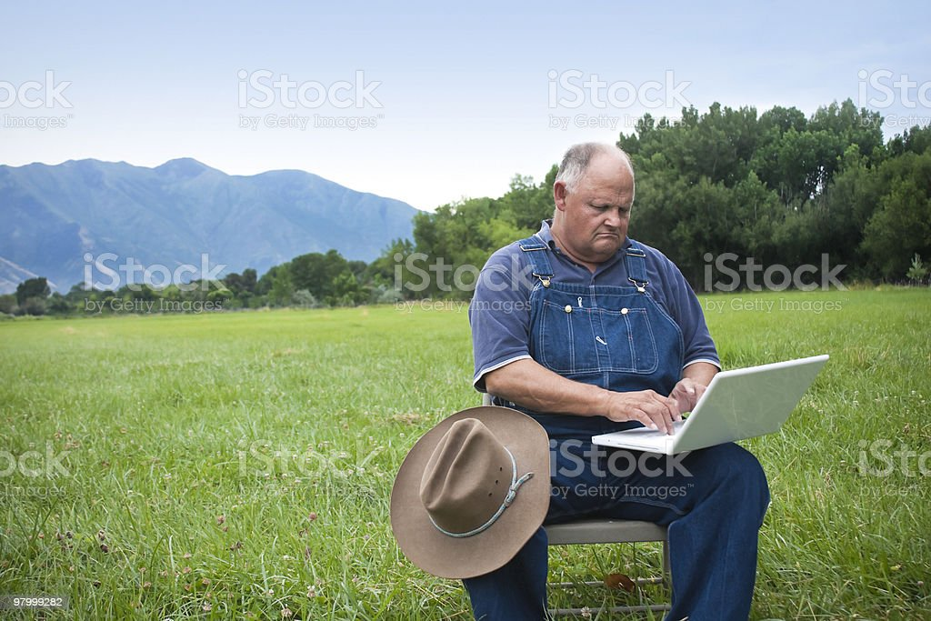 Adapting to the computer age royalty-free stock photo