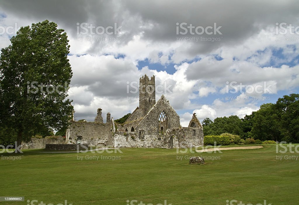 Adare abbey stock photo